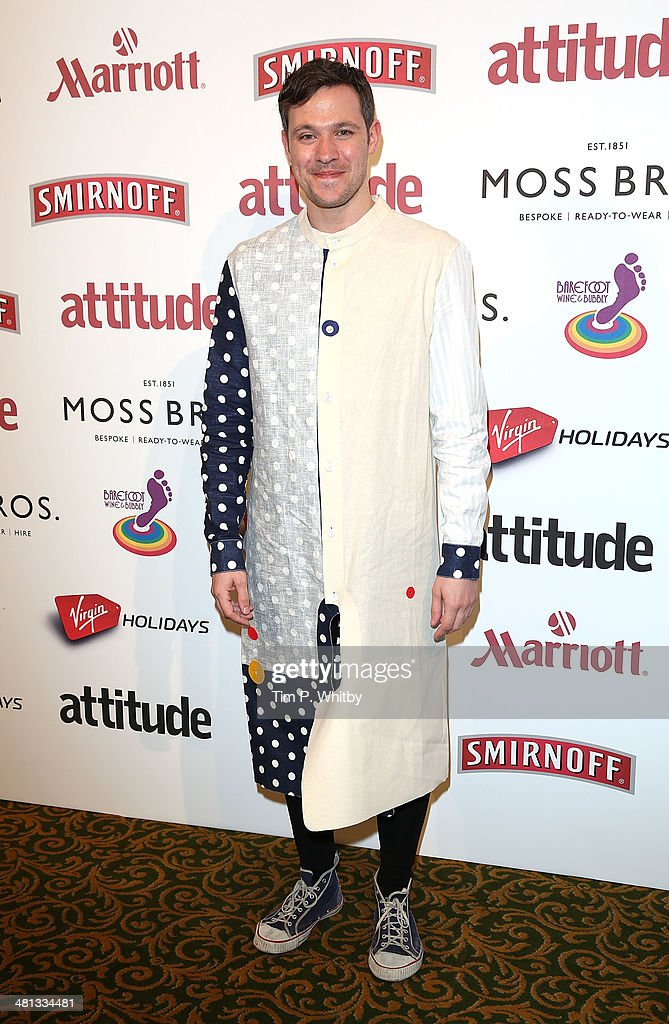 <a gi-track='captionPersonalityLinkClicked' href=/galleries/search?phrase=Will+Young+-+Singer&family=editorial&specificpeople=15302077 ng-click='$event.stopPropagation()'>Will Young</a> attends the 20th birthday party of Attitude Magazine at The Grosvenor House Hotel on March 29, 2014 in London, England.