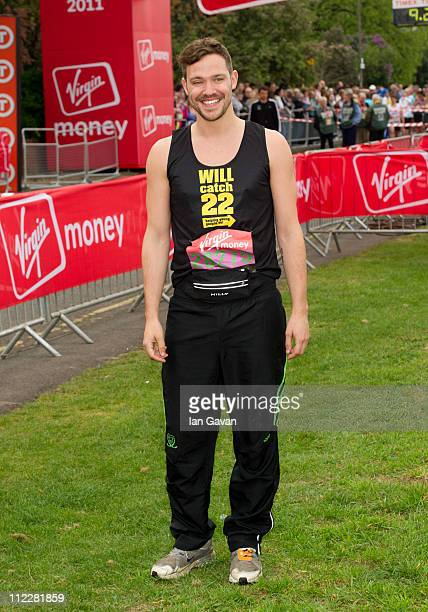 Will Young attends the celebrity start of the 2011 Virgin London Marathon at Blackheath on April 17 2011 in London England