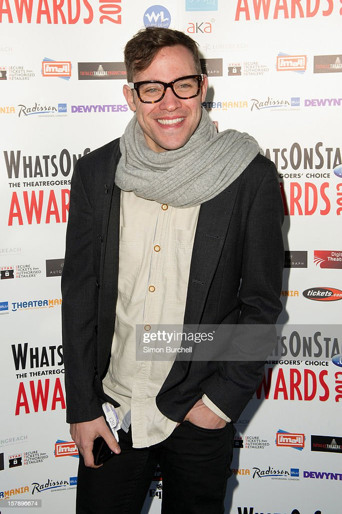Will Young attends the Whatsonstage.com Theare Awards nominations launch at Cafe de Paris on December 7, 2012 in London, England.