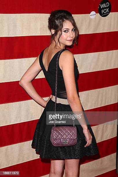 Willa Holland arrive at Nylon Magazine and Wildfox' celebration of 'America The Issue' at Sunset Marquis Hotel Villas on November 1 2013 in West...