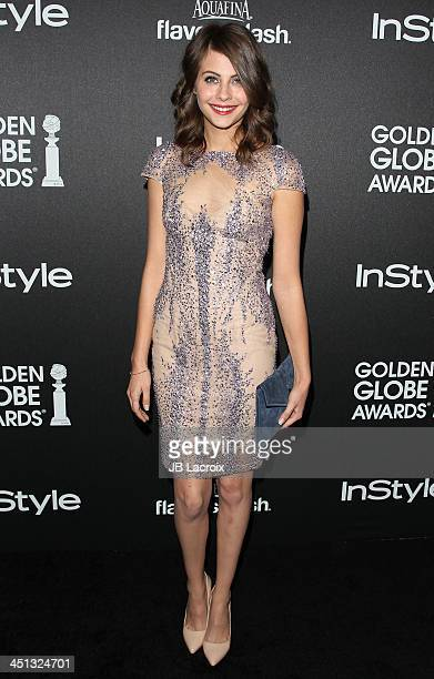 Willa Holland attends The Hollywood Foreign Press Association And InStyle 2014 Miss Golden Globe Announcement/Celebration at Fig Olive Melrose Place...