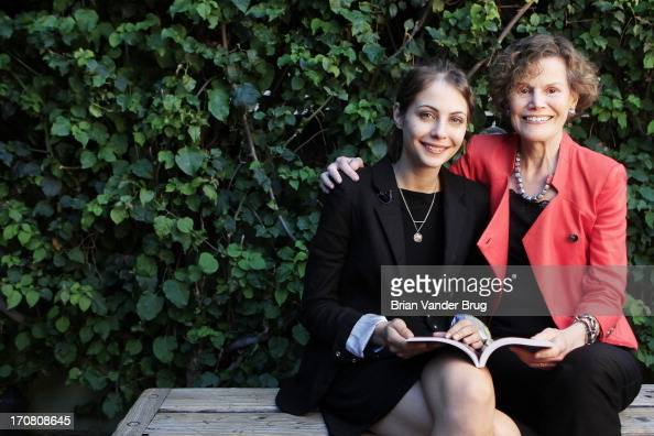 Willa Holland Judy Blume are photographed for Los Angeles Times on May 29 2013 in Los Angeles California PUBLISHED IMAGE CREDIT MUST READ Brian...