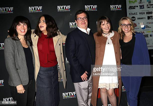 Willa Paskin Jennifer Konner Terence Gray Lena Dunham and Kathleen McCaffrey attend 12th Annual New York Television Festival Creative Keynote A...