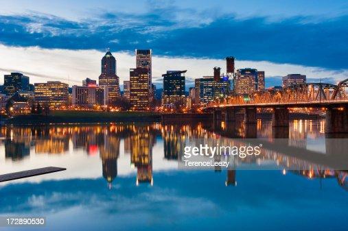 Willamette River Reflections, Portland, Oregon
