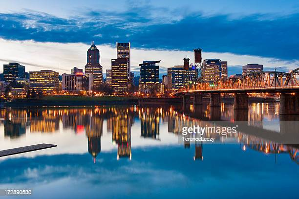 Willamette River Reflections, Portland, Oregon