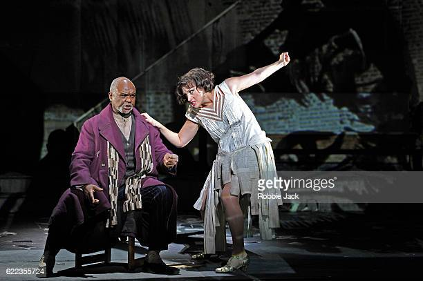Willard White as Schigolch and Brenda Rae as Lulu in English National Opera's production of Alban Berg's 'Lulu' directed and designed by William...