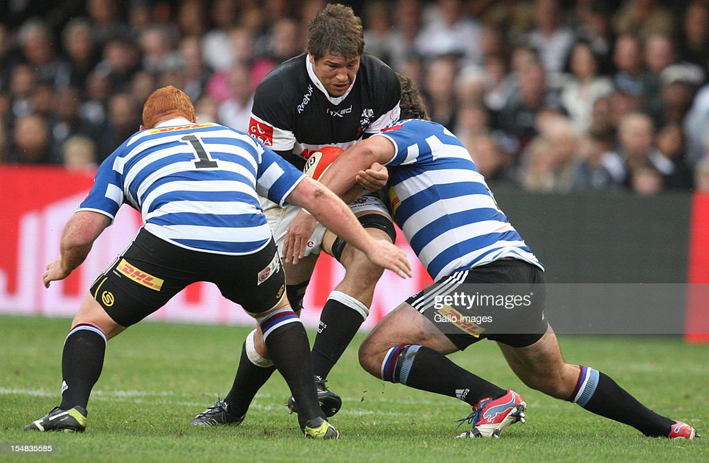 Willem Alberts during the Absa Currie Cup final match between The Sharks and DHL Western Province from Mr Price KINGS PARK on October 27 2012 in...