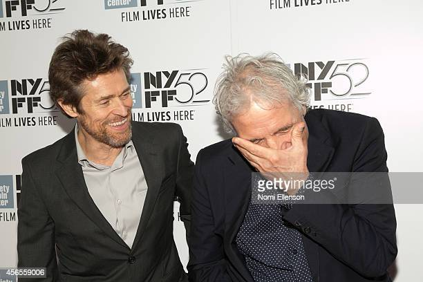 Willem Dafoe and Abel Ferrara attend the 52nd New York Film Festival>> at Alice Tully Hall on October 2 2014 in New York City