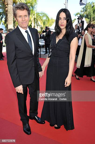 Willem Dafoe and Giada Colagrande attend the 'Bacalaureat' red carpet at the annual 69th Cannes Film Festival at Palais des Festivals on May 19 2016...