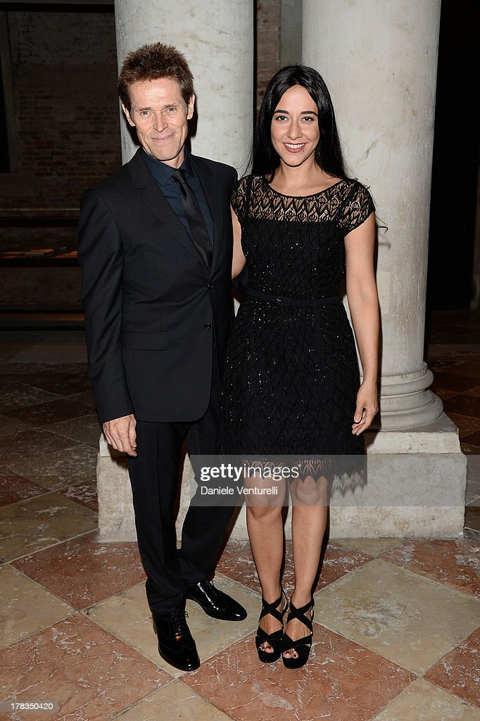 Willem Dafoe and Giada Colagrande attend the Miu Miu Women's Tales dinner hosted by Miuccia Prada at the Ca' Corner on August 29, 2013 in Venice, Italy.