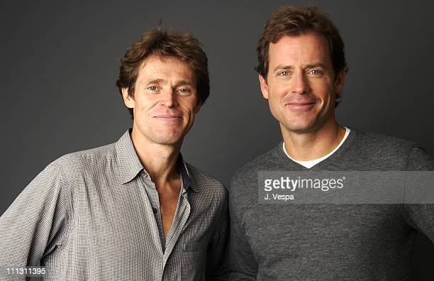 Willem Dafoe and Greg Kinnear during 2002 Toronto Film Festival 'Auto Focus' Portraits at Hotel InterContinental in Toronto Ontario Canada