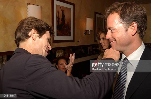 Willem Dafoe and Greg Kinnear during 40th New York Film Festival Screening of 'Auto Focus' AfterParty at Gabriel's Restaurant in New York City New...