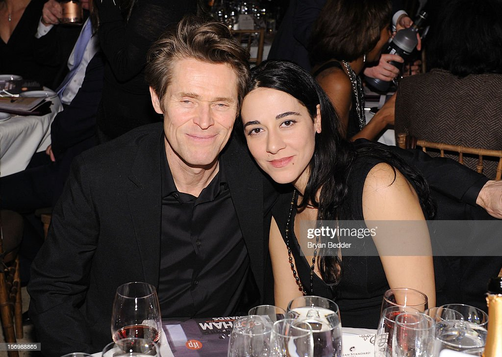 <a gi-track='captionPersonalityLinkClicked' href=/galleries/search?phrase=Willem+Dafoe&family=editorial&specificpeople=203171 ng-click='$event.stopPropagation()'>Willem Dafoe</a> (L) and guest attend the IFP's 22nd Annual Gotham Independent Film Awards sponsored by FIJI Water at Cipriani Wall Street on November 26, 2012 in New York City.