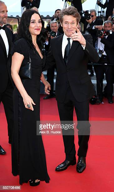 Willem Dafoe and his wife Giada Colagrande attend the 'Graduation ' Premiere during the 69th annual Cannes Film Festival at the Palais des Festivals...