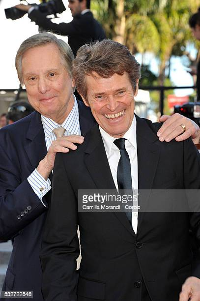 Willem Dafoe and William Friedkin attend the 'Bacalaureat' red carpet at the annual 69th Cannes Film Festival at Palais des Festivals on May 19 2016...