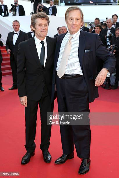 Willem Dafoe and William Friedkin attends the 'Graduation ' Premiere during the 69th annual Cannes Film Festival at the Palais des Festivals on May...