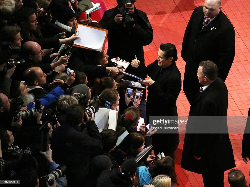 <a gi-track='captionPersonalityLinkClicked' href=/galleries/search?phrase=Willem+Dafoe&family=editorial&specificpeople=203171 ng-click='$event.stopPropagation()'>Willem Dafoe</a> attends 'The Grand Budapest Hotel' Premiere during the 64th Berlinale International Film Festival at Berlinale Palast on February 6, 2014 in Berlin, Germany.