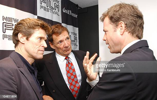 Willem Dafoe Ron Leibman and Greg Kinnear during 40th New York Film Festival Screening of 'Auto Focus' at Alice Tully Hall in New York New York...