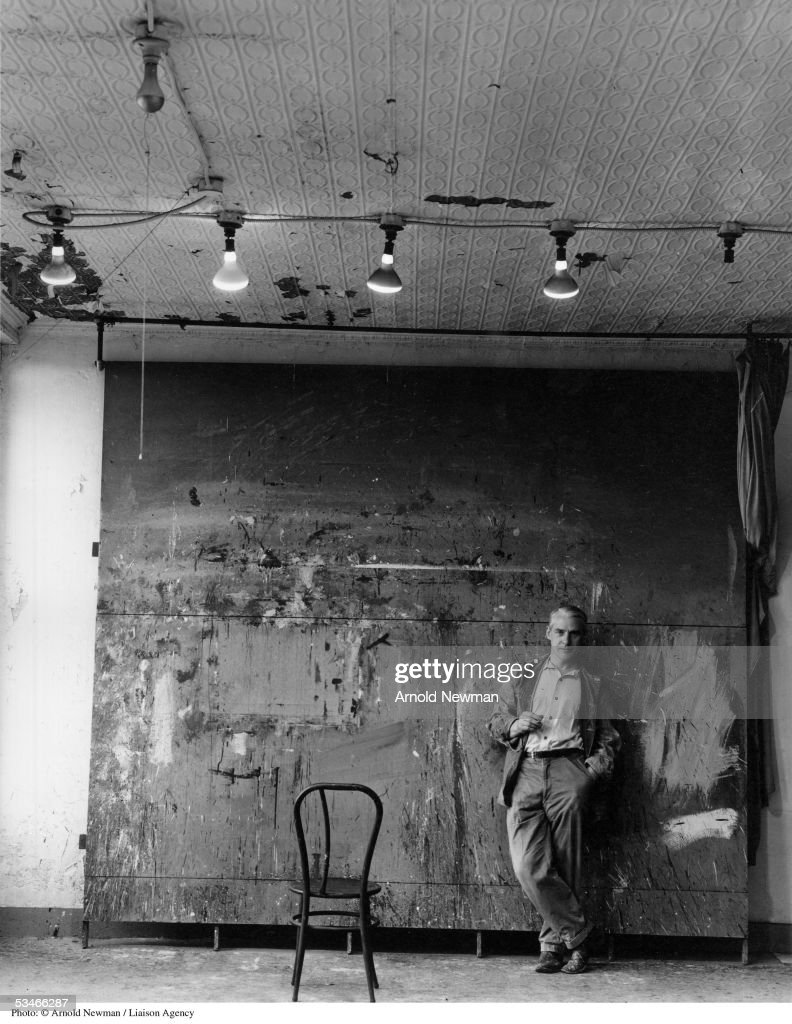 Willem De Kooning, Abstract Expressionist painter, poses for portrait in his studio May 25, 1959 in New York City.