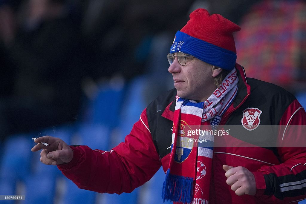Willem II Supporter during the Dutch Eredivise match between Willem II and ADO Den Haag at the Koning Willem II Stadium on January 20, 2013 in Tilburg, The Netherlands.