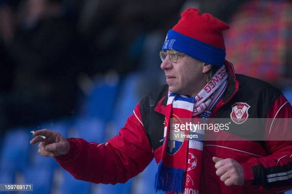 Willem II Supporter during the Dutch Eredivise match between Willem II and ADO Den Haag at the Koning Willem II Stadium on January 20 2013 in Tilburg...