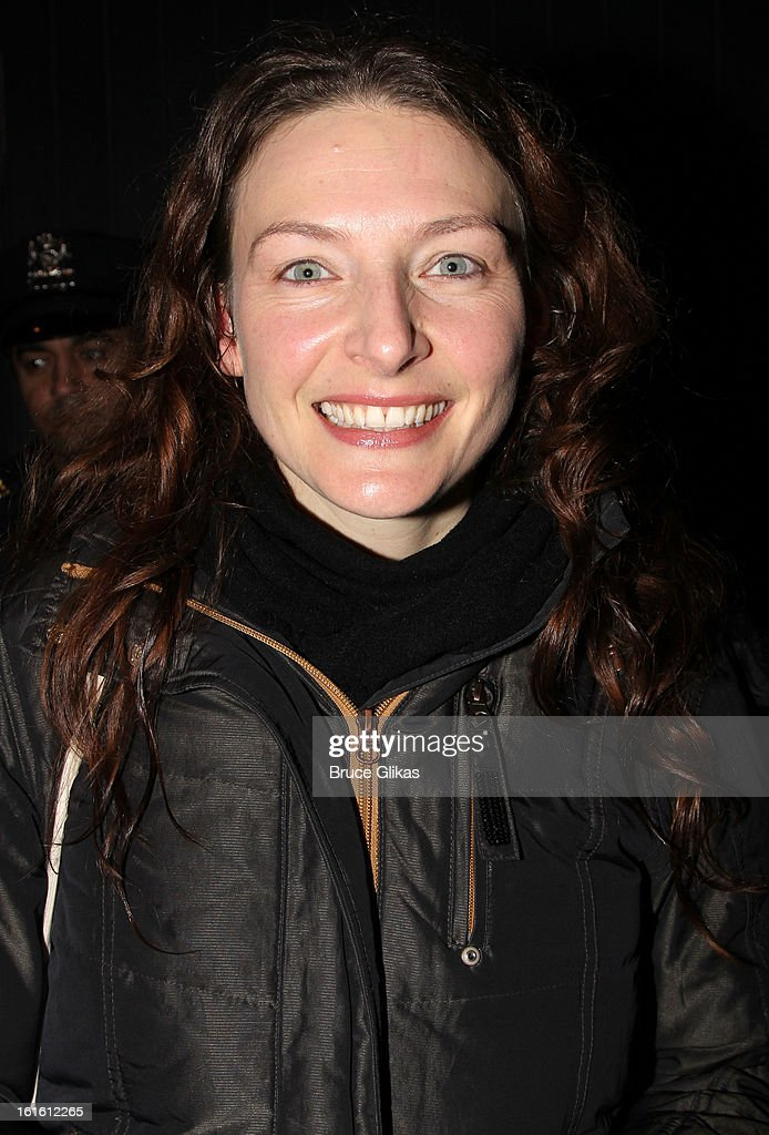 Willemijn Verkaik poses at the stagedoor as she makes her Broadway Debut In 'Wicked' On Broadway at The Gershwin Theatre on February 12, 2013 in New York City.