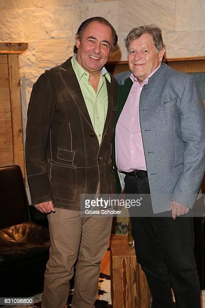 Willi Beier and Norbert Haug during the NeujahrsKarpfenessen at Hotel Kitzhof on January 6 2017 in Kitzbuehel Austria