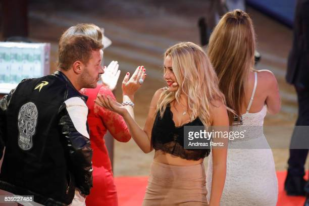 Willi Herren and Evelyn Burdecki attend the finals of 'Promi Big Brother 2017' at MMC Studio on August 25 2017 in Cologne Germany
