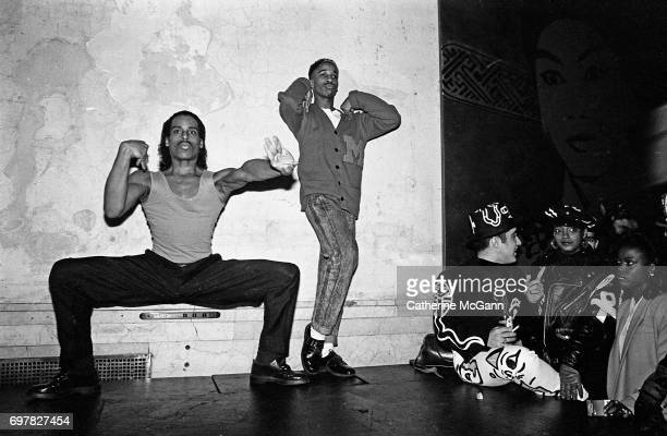 Willi Ninja and dancer voguing at nightclub Mars in 1988 in New York City New York