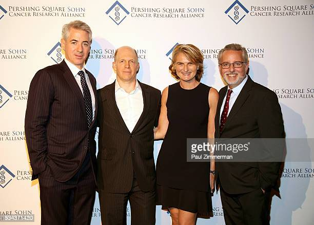 William A Ackman Doug Hirsch Olivia Tournay Flatto Evan Sohn pose at The Pershing Square Sohn Cancer Alliance 3rd Annual Prize Award Dinner on May 25...