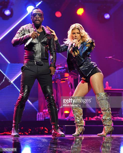 william and Fergie of Black Eyed Peas perform onstage at the iHeartRadio Music Festival held at the MGM Grand Garden Arena on September 23 2011 in...