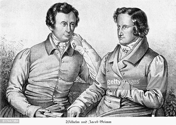 William and Jacob Grimm German philologists and mythologists Pencil drawing undated BPA2# 3368
