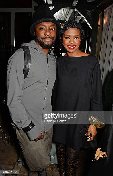 william and Lauryn Hill attend as Lauryn Hill performs at the Dover Street Arts Club on September 27 2014 in London England