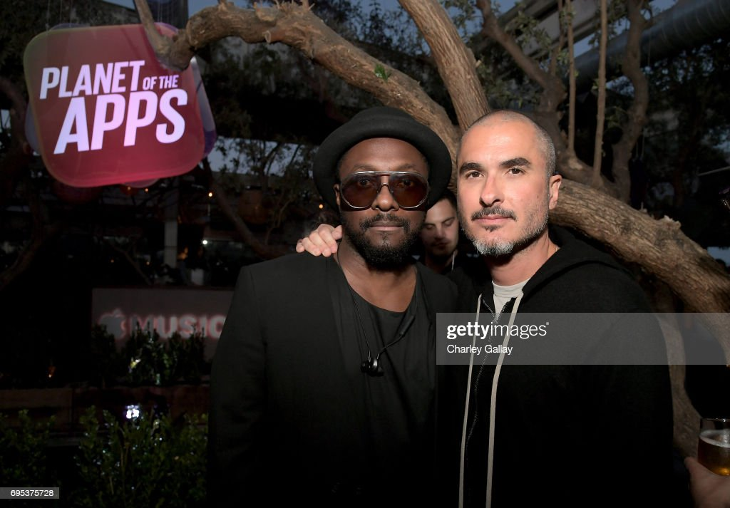 will.i.am (L) and Zane Lowe, Beats 1 Anchor and Creative Director, attend Apple Music's Planet of the Apps Party at Soho House on June 12, 2017 in West Hollywood, California.