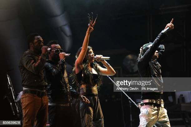 william apldeap Fergie and Taboo of Black Eyed Peas performing during the 2009 Glastonbury Festival at Worthy Farm in Pilton Somerset
