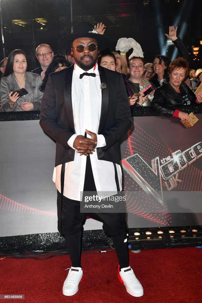 Will.i.am arrives during The Voice UK 2018 launch photocall at Media City on October 17, 2017 in Manchester, England.
