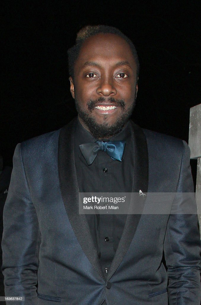 will.i.am at Annabel's club on March 13, 2013 in London, England.