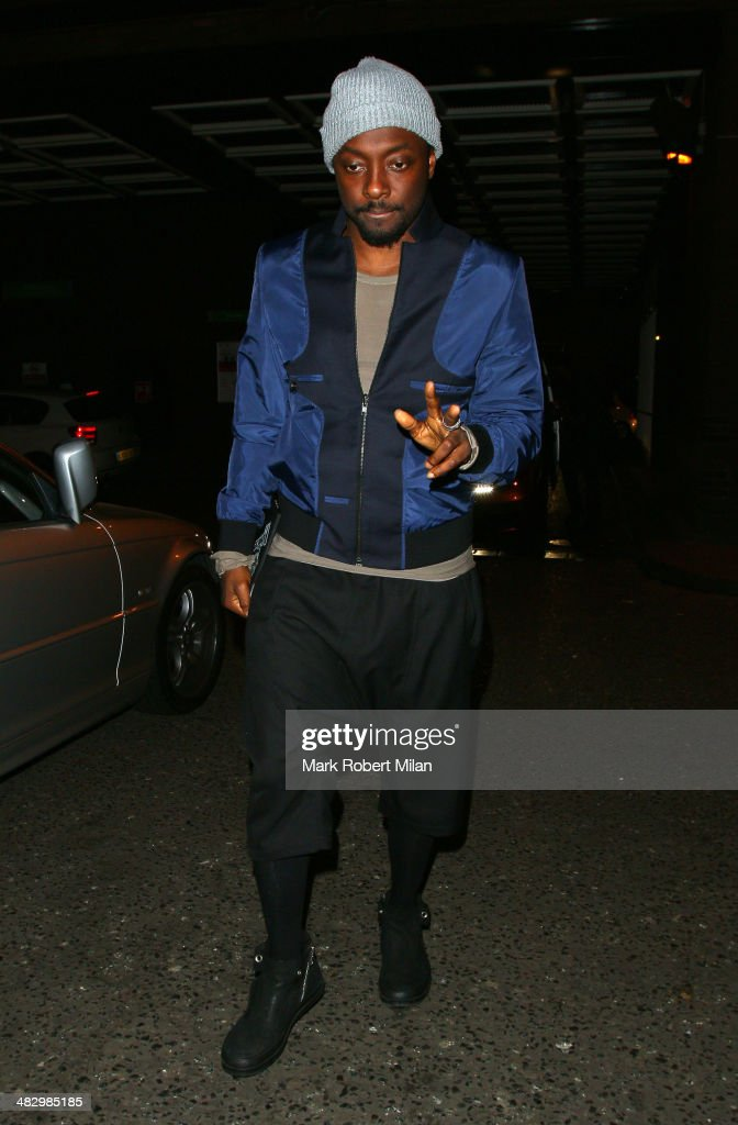 Will.i.am at the Arts club on April 5, 2014 in London, England.