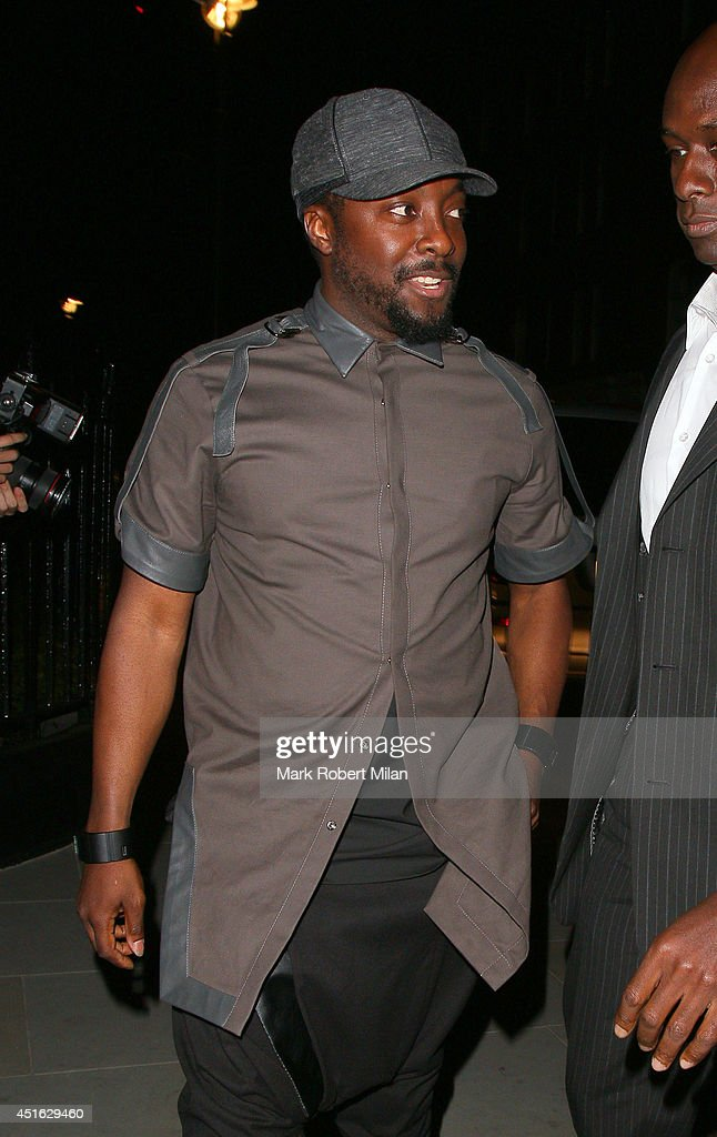 will.i.am at the Chiltern Firehouse on July 2, 2014 in London, England.