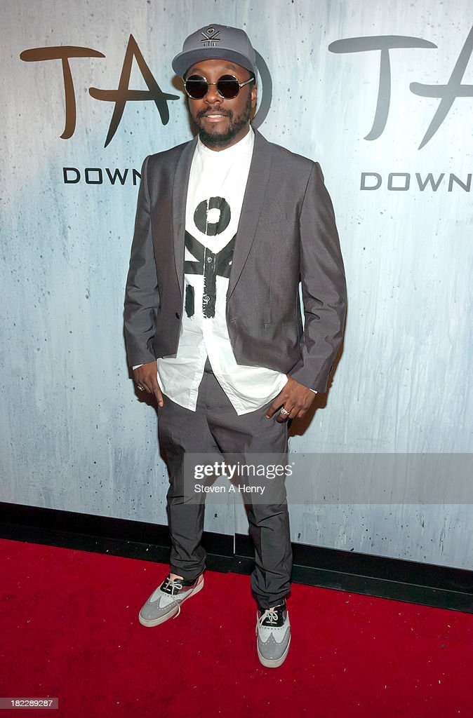 <a gi-track='captionPersonalityLinkClicked' href=/galleries/search?phrase=Will.I.Am&family=editorial&specificpeople=203050 ng-click='$event.stopPropagation()'>Will.I.Am</a> attends the grand opening of TAO Downtown on September 28, 2013 in New York City.