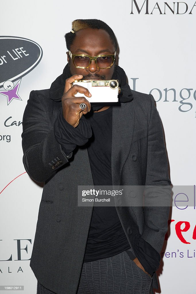 Will.I.am attends the Noble Gift Gala at The Dorchester on December 8, 2012 in London, England.