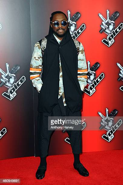William attends the red carpet launch for 'The Voice UK' at BBC Broadcasting House on January 6 2014 in London England