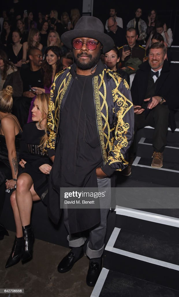 will.i.am attends the VERSUS show during the London Fashion Week February 2017 collections on February 18, 2017 in London, England.