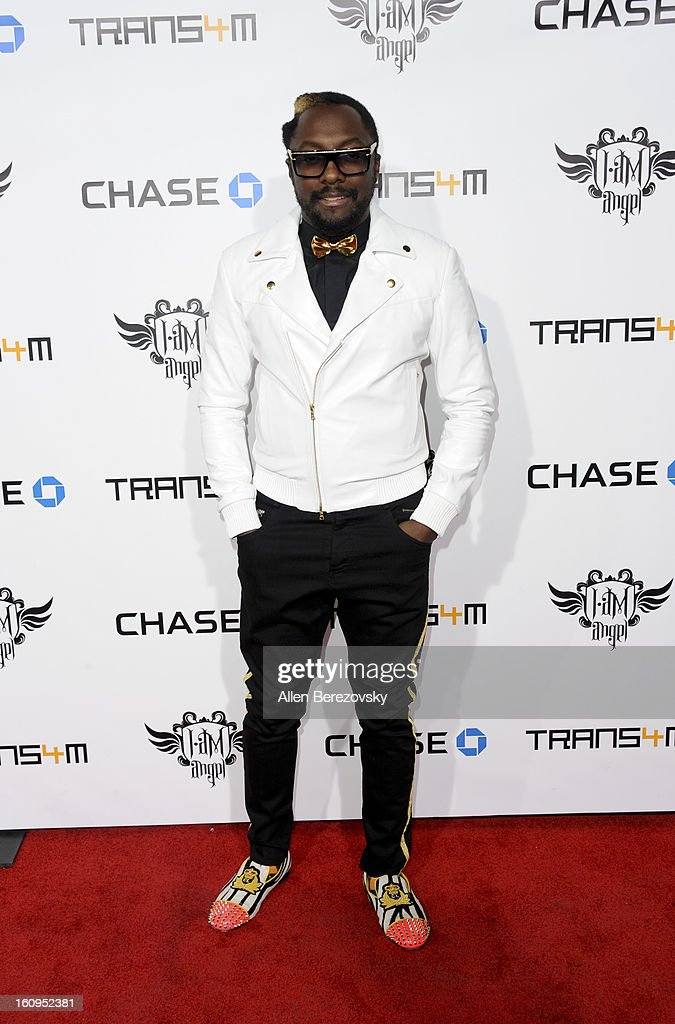 will.i.am attends <a gi-track='captionPersonalityLinkClicked' href=/galleries/search?phrase=Will.I.Am&family=editorial&specificpeople=203050 ng-click='$event.stopPropagation()'>Will.I.Am</a>'s Annual TRANS4M Concert Benefitting I.Am.Angel Foundation - Red Carpet on February 7, 2013 in Hollywood, California.