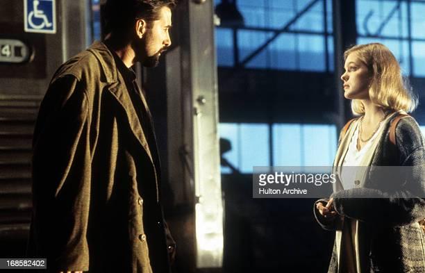 William Baldwin and Erika Eleniak in a scene from the film 'A Pyromaniac's Love Story' 1995