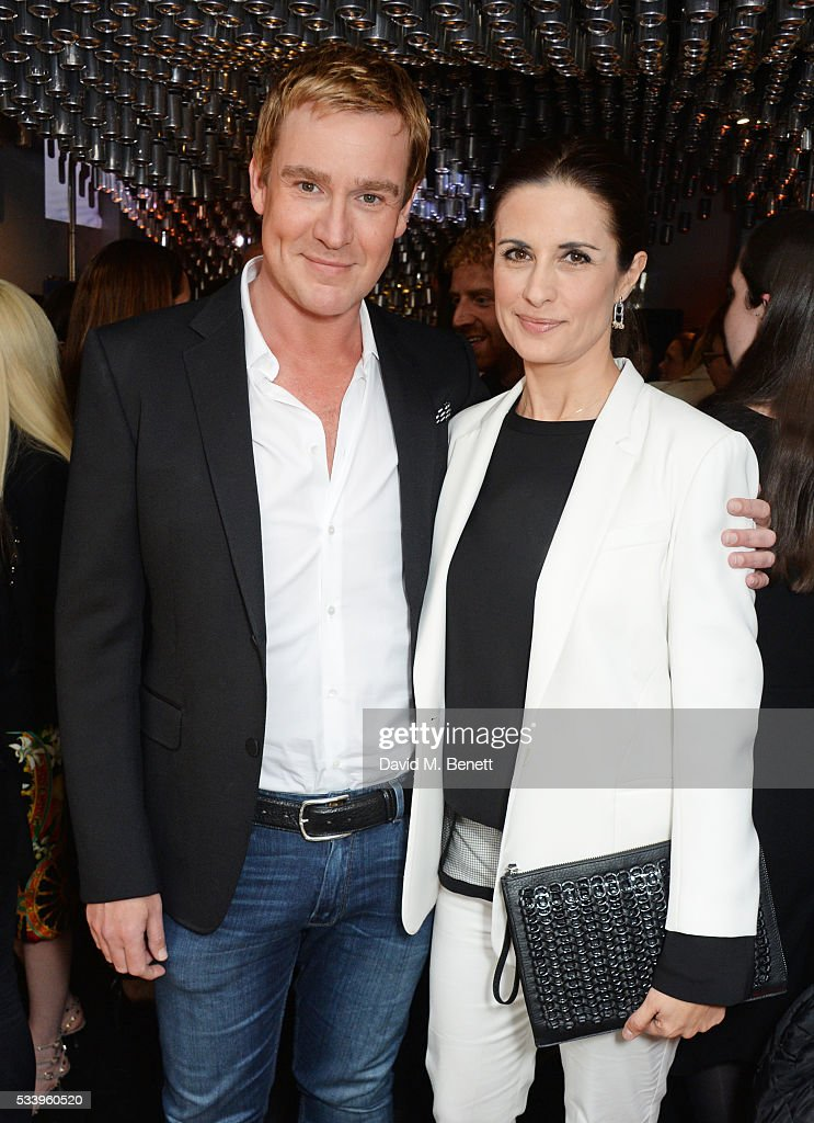 William Banks-Blaney (L) and Livia Firth attend the Bottletop Regent Street store launch on May 24, 2016 in London, England.