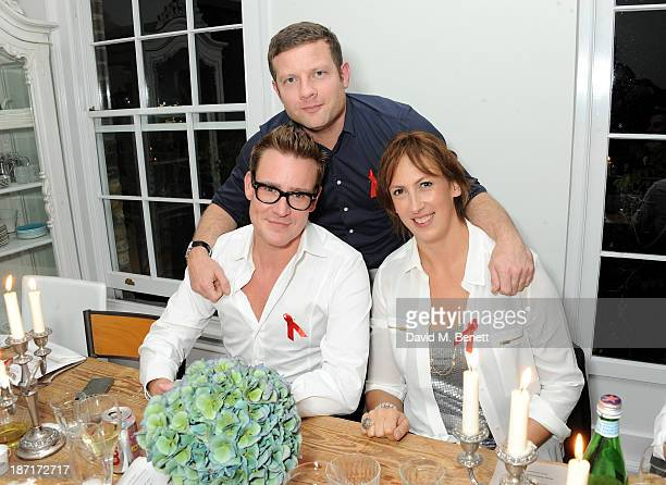 William BanksBlaney Dermot O'Leary and Miranda Hart attend a 'Supper Club' dinner hosted by Dermot O'Leary for the Terrence Higgins Trust on November...
