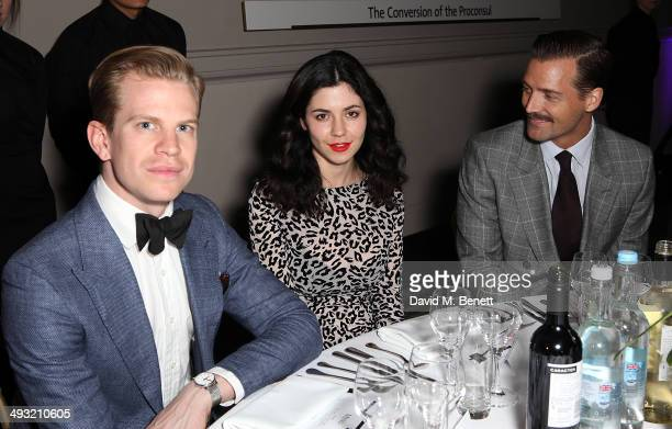 William Barrowman Marina Diamandis and Patrick Grant attend a gala dinner celebrating the launch of Contini Art UK a new gallery opening on New Bond...