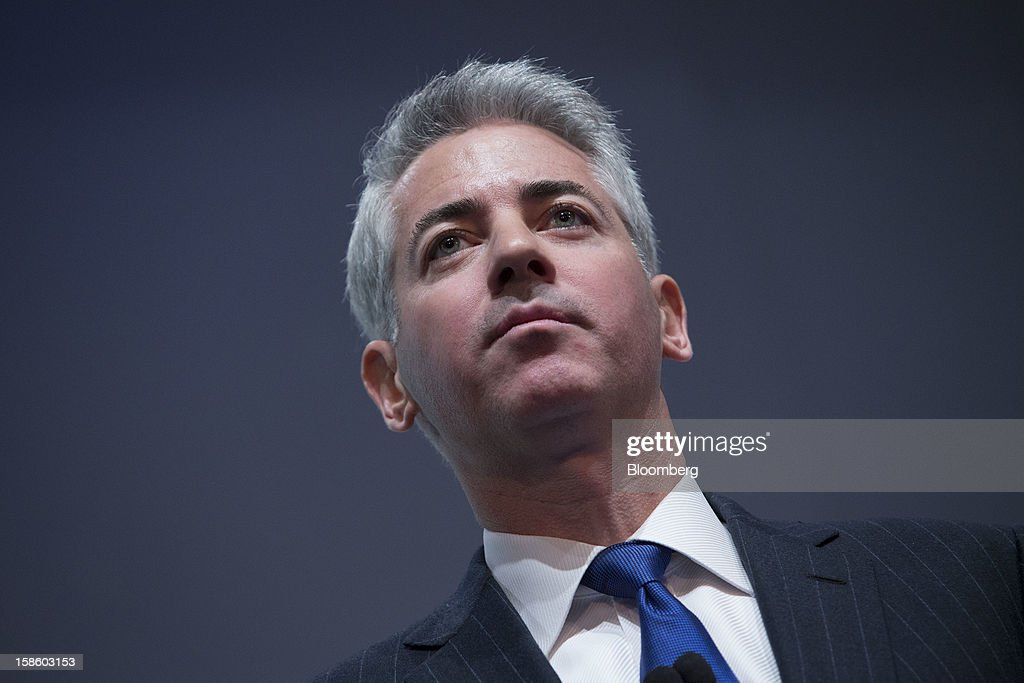 William 'Bill' Ackman, founder and chief executive officer of Pershing Square Capital Management LP, pauses while speaking during a presentation in New York, U.S., on Thursday, Dec. 20, 2012. Herbalife Ltd., the maker of namesake nutritional and weight-loss supplements, fell for the second day after Ackman said he has taken a short position on the company. Photographer: Scott Eells/Bloomberg via Getty Images