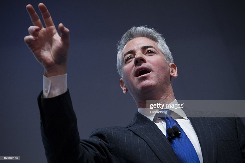 William 'Bill' Ackman, founder and chief executive officer of Pershing Square Capital Management LP, speaks during a presentation in New York, U.S., on Thursday, Dec. 20, 2012. Herbalife Ltd., the maker of namesake nutritional and weight-loss supplements, fell for the second day after Ackman said he has taken a short position on the company. Photographer: Scott Eells/Bloomberg via Getty Images